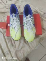 Chuteira Society Nike Mercurial Vapor 13 Club Neymar Jr TF - Branco+Azul<br><br>