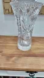 Título do anúncio: Lindo vaso de cristal vintage 30 cm