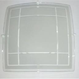 Título do anúncio: Lustre Plafon Quadrado de teto em Vidro jateado - 2 peças