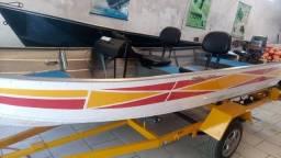 Título do anúncio: Barco 5m com motor 30hp e reboque rodoviário