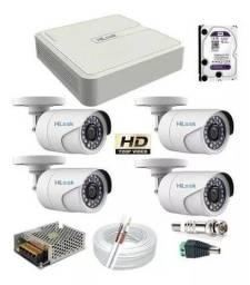 Título do anúncio: Promoção:Kit Completo C/4 Câmeras Infravermelho! Monitore pelo seu Celular