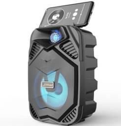 Caixa de Som Bluetooth Portátil Usb SD entrada pra microfone - pra notebook Pc e celular