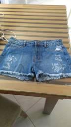 Short jeans infantil tam 14 novo