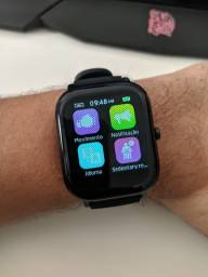 Smartwatch P8 Pro 20mm Compatível com Android e IOS Preto
