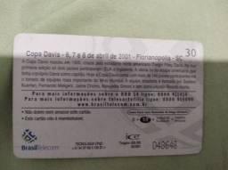 Cartão Telefônico Copa Davis 2001