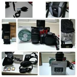 Kit Canon T5i + lentes + flash + acessórios