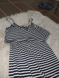 Vestido longo de alcinha (com fenda)