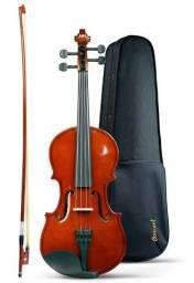 Violino Concert + Estojo Luxo + Arco + Breu Completo Cv 4/4