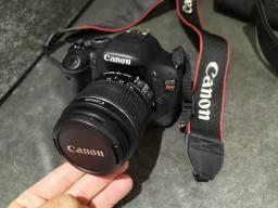 Câmera Canon prof. Rebel T2i+Case+Bateria extra + Objetiva 75/300mm + Cartão de memória