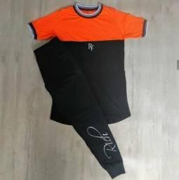 Camiseta Longline, Calça Moletom, Casaco De Punho.