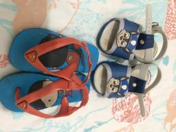 Chinelo e sandália infantil