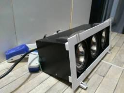 Luminárias de Embutir Com Lãmpadas e Reator Funcionando Perfeitamente