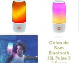 Caixa de Som Bluetooth JBL Pul se 3 á Prova dÁgua - Portátil 20W Ativa USB