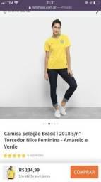 Camisa seleção Brasil feminina oficial