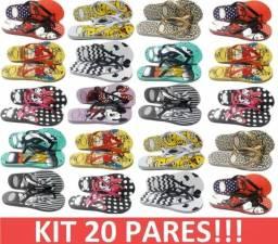 KIT 20 Pares de sandálias femininas Atacado