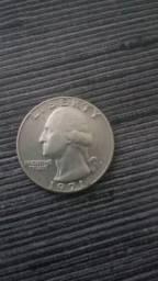 Moeda rara quarter dolar com a letra D 1971