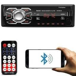 Auto Rádio Bluetooth Controle USB FM Auxiliar Entrega Grátis 992608935