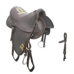 9ab284139 Cela americana confortável couro legítimo para cavalos e muares oferta da  semana