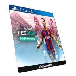Pes 2021 Efootball Português PS4 Game Original P/ Console Bloqueado