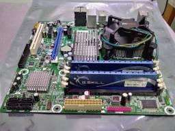 Kit Placa Mãe + Processador + Memória