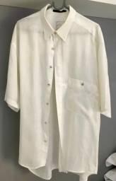 Camisa de linho puro