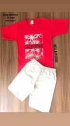 Conjunto Nininhos Vermelho Califórnia