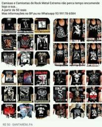 Camisas e Camisetas de Bandas de Rock