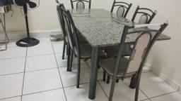 Conjunto de Mesa Sara com 6 Cadeiras