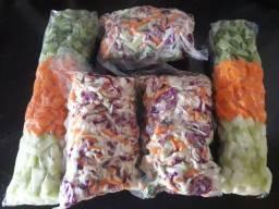 Legumes embalados a vácuo cortados e higienizados!!!