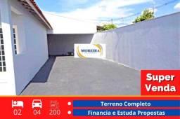 Título do anúncio: Casa 2 Dormitórios e Terreno Completo - Região Oeste - Franca SP