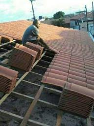 Paulo telhados e reforma retelhamento rufo e capote tiramos Goteira revisão completa