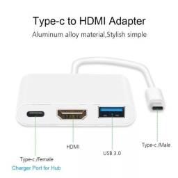 Cabo Adaptador Tipo C para HMDI/USB/USB-C
