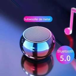 Título do anúncio: Caixinha Som Bluetooth Tws Metal Mini Speaker Amplificada