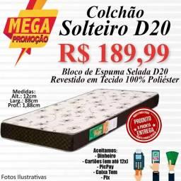 Título do anúncio: COLCHÃO SOLTEIRO D20