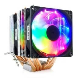 Título do anúncio: Air Cooler CPU Snowman M-X6 - 3 Fans Rgb - 6 Tubos De Resfriamento Original