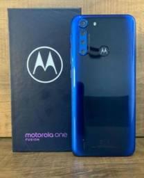 Título do anúncio: Motorola One Fusion Dual Sim 128 Gb Azul-safira 4 Gb Ram