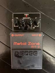 Pedal de Guitarra Boss Mt-2 Metal Zone - Original e Novo