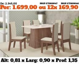 Mesa de Jantar 6 Cadeira- Mesa de 6 Cadeira - Conjunto - Promoção em MS