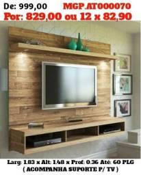 Painel de televisão Grande - Painel de TV até 60 Plg- Liquida em MS