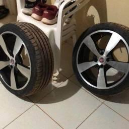 Vendo Jogo de rodas liga leve completo + pneu novo Aro 17 furos de roda 4x98