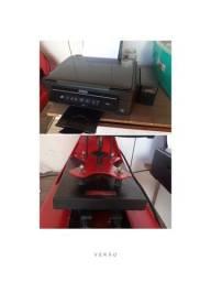 Impressora sublimática e prensa