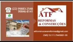 Título do anúncio: ATF REFORMAS E CONSTRUÇÕES <br>(Pedreiro, pintor, elétrica e outros)