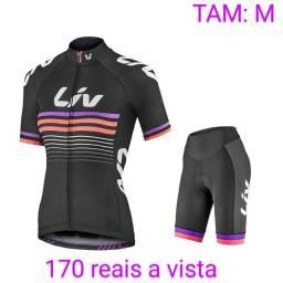 Roupa pra ciclistas feminino novas M