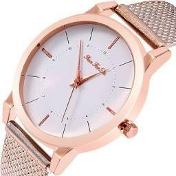 Título do anúncio: Relógio Feminino Quartz Rosa ou Prateado