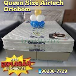 Título do anúncio: cama queen size airtech springpocket\\ liquidação