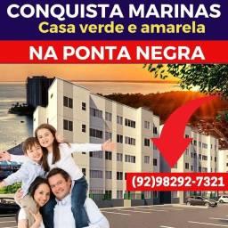 Título do anúncio: No conquista Marinas você pode morar na Ponta Negra e pagar pouco por isso! VEJA!!!!