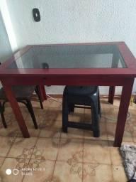 Título do anúncio: Mesa tampo de vidro fumê