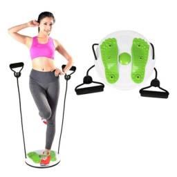 Título do anúncio: Elástico Extensor Corda C/Disco De Torção Cintura P/ Exercícios Fitness e Funcional
