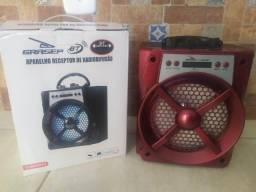 Título do anúncio: Caixa de som Bluetooth Portátil Grasep D-bh2013 Vermelha