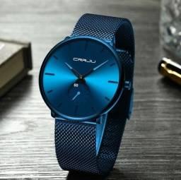 Título do anúncio: Relógio Minimalista Casual Esportivo Luxo Crrju A Prova D'água
